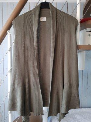 Tchibo / TCM Gilet long tricoté kaki
