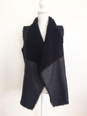 Velvet Bontgilet zwart