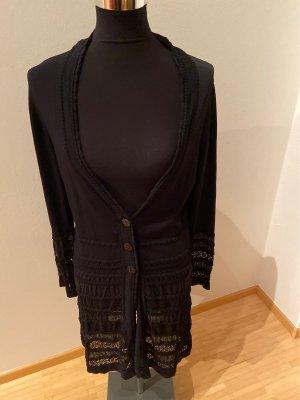 Zucchero Long Knitted Vest black