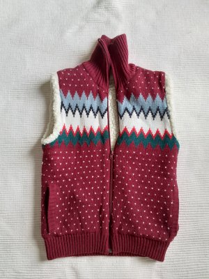 Wrangler Futrzana kamizelka ciemnoczerwony-biały