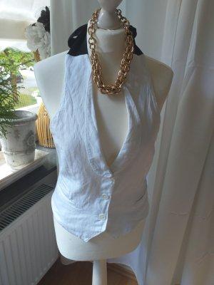 Mango Sports Vests white-black linen
