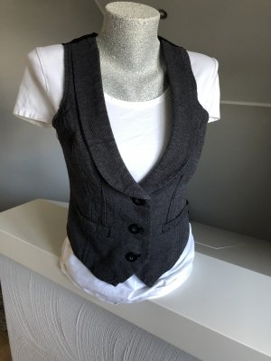 Colours of the World Biker vest zwart-antraciet