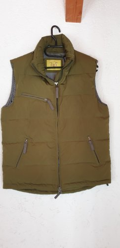 Witty Knitters Down Vest olive green mixture fibre