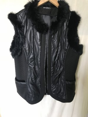 New Jersey Fake Fur Vest black