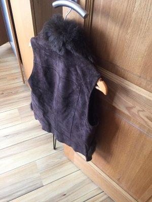 Yessica Fake Fur Vest dark brown