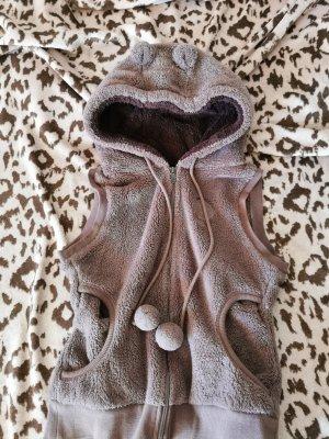 Gilet à capuche brun foncé