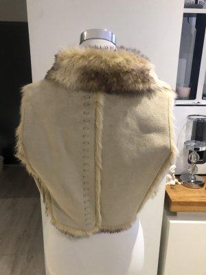 Fleece vest wolwit