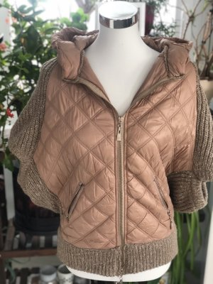 Hooded Vest brown-silver-colored