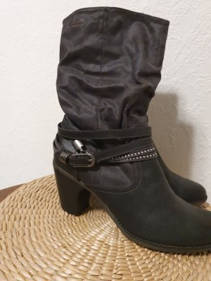 s.Oliver Western Booties anthracite