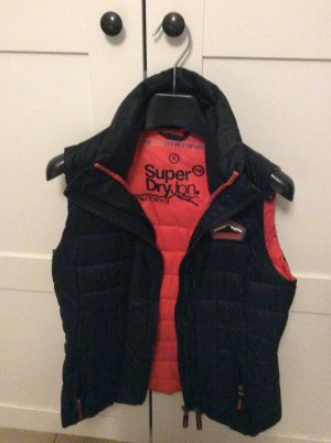 Superdry Quilted Gilet black-neon orange polyester