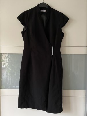 Calvin Klein Gabardina tipo vestido negro