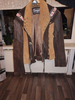 Fringed Vest brown polyester