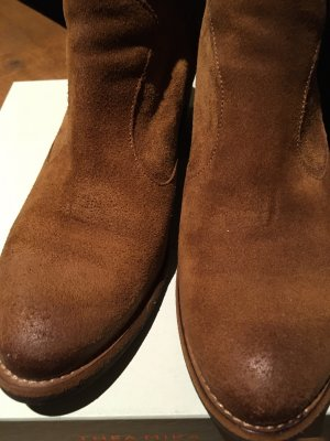 Western Booties cognac-coloured-brown leather