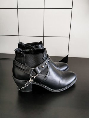 Catwalk Western Booties black-silver-colored