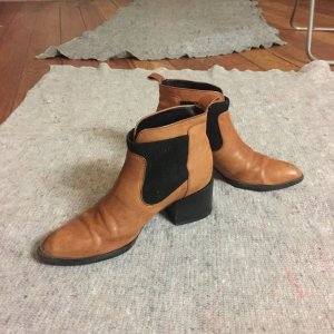 Calvin Klein Jeans Western Booties cognac-coloured-black leather