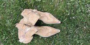 Boots western crème-beige clair