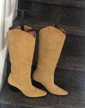Zara Buty w stylu western jasnobrązowy