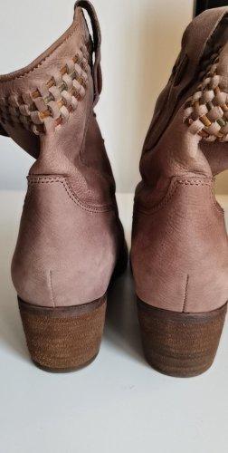 Tamaris Western Booties dusky pink