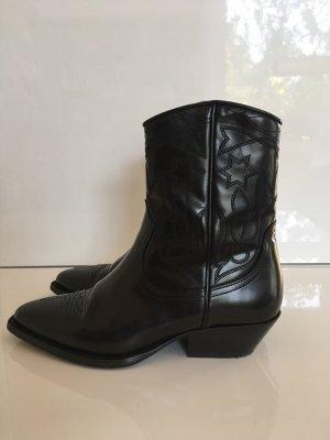 Sandro Western Booties black leather