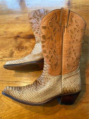 Sancho Boots Buty w stylu western camel-jasnobeżowy Skóra