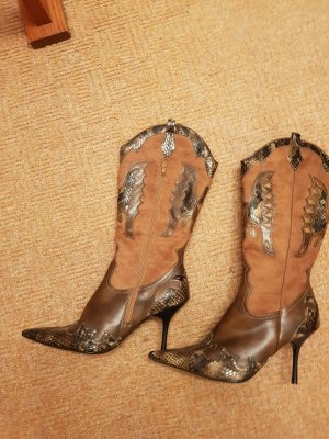 Botas estilo vaquero marrón claro-marrón