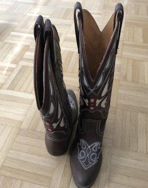Buty w stylu western brąz