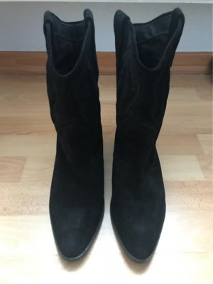 About You Western Booties black leather