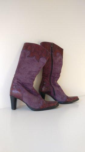 TJ Collection Botas estilo vaquero lila grisáceo-violeta grisáceo