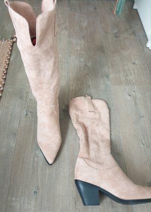 Botas estilo vaquero nude