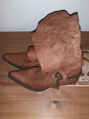 Boots western marron clair