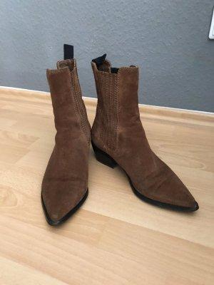 H&M Western Booties brown