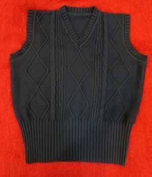 Gilet tricoté bleu foncé laine