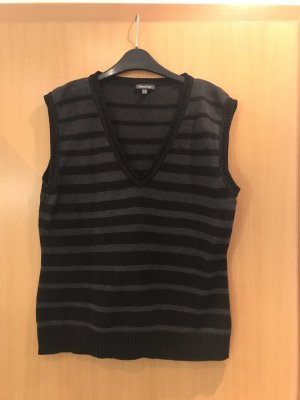 Street One Long Knitted Vest black-grey