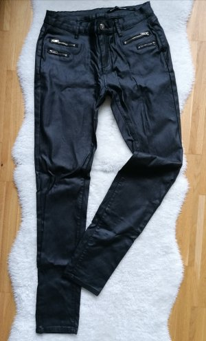 crazy lover Leather Trousers black