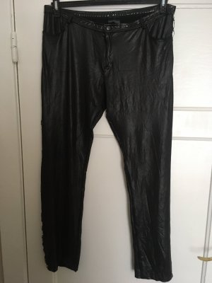 Noir Handmade Leather Trousers black-silver-colored