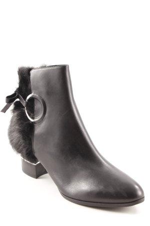 What for Booties schwarz-silberfarben minimalistischer Stil