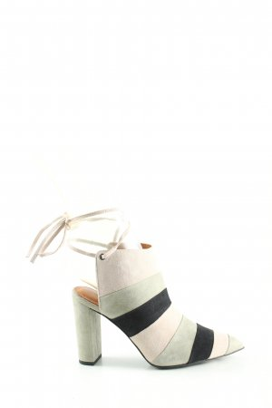 What for Cut Out Booties striped pattern casual look
