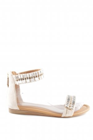 What for Sandalo con cinturino bianco sporco-argento stile casual