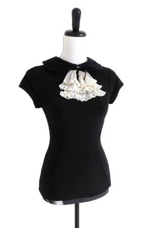 WHEELS & DOLLBABY Smart Girl Ruffle Top Shirt Bluse Rüschen Stretch black – XS