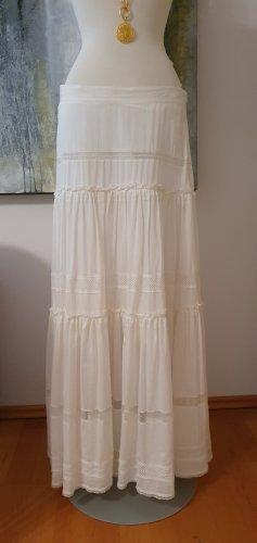Falda larga blanco Algodón