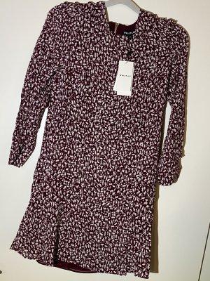 Whistles Sukienka typu babydoll bordo-w kolorze białej wełny