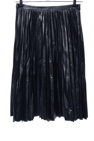 Whistles Kunstlederrock schwarz extravaganter Stil