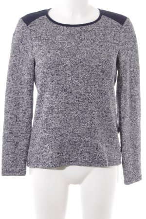 Whistles Strickpullover dunkelblau-wollweiß meliert Casual-Look