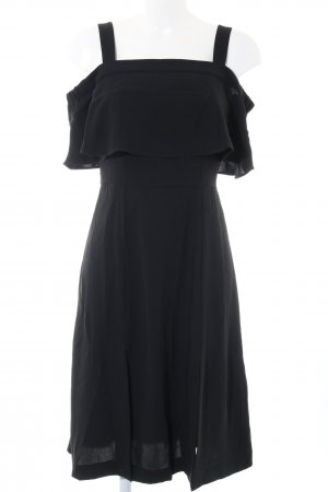 Whistles Volantkleid schwarz Casual-Look