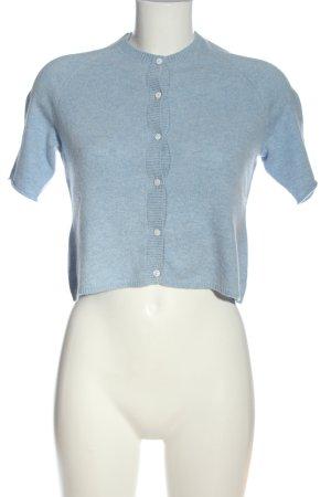 White Cardigan blau meliert Casual-Look