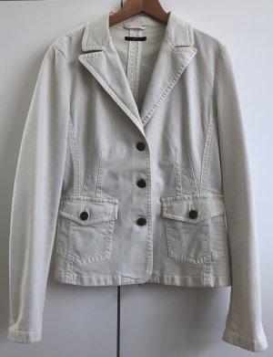 WHITE DENIM! Weißer Jeans-Blazer von BOSS