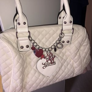 Guess Burlap Bag white-red
