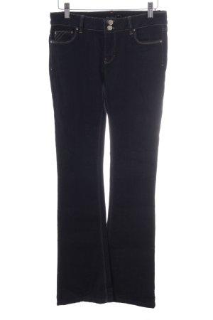 White House Black Market Boot Cut Jeans dunkelblau Casual-Look