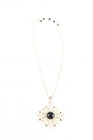 White House Black Market Halskette goldfarben-schwarz Elegant