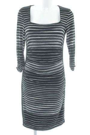 White House Black Market Jerseykleid schwarz-weiß Streifenmuster Casual-Look